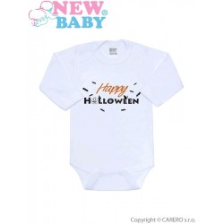 Body s potiskem New Baby Happy Halloween, Oranžová, 62 (3-6m)