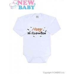 Body s potiskem New Baby Happy Halloween, Oranžová, 68 (4-6m)