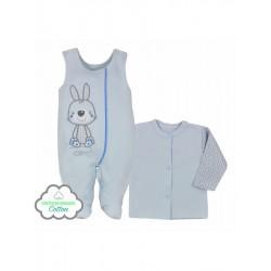 2-dílná kojenecká BIO souprava Koala Bunny modrá