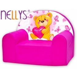Dětské křesílko/pohovečka Nellys ® - Míša srdíčko Nellys