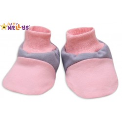 Botičky/ponožtičky Baby Nellys ® - Balónek v růžové