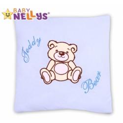 Polštářek 40x40 TEDDY BEAR Baby Nellys - sv. modrý