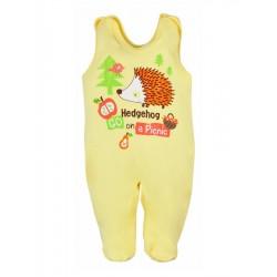 Kojenecké dupačky Bobas Fashion Ježek žluté, Žlutá, 86 (12-18m)