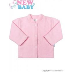 Kojenecký froté kabátek New Baby růžový, Růžová, 80 (9-12m)