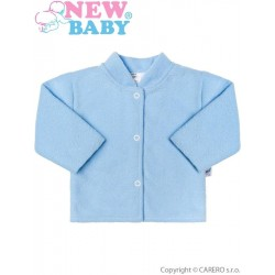 Kojenecký froté kabátek New Baby modrý, Modrá, 86 (12-18 m)