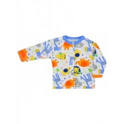 Kojenecký kabátek Bobas Fashion Zoo modrý, Modrá, 62 (3-6m)