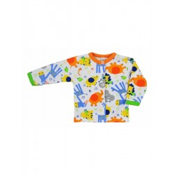 Kojenecký kabátek Bobas Fashion Zoo oranžový, Oranžová, 68 (4-6m)