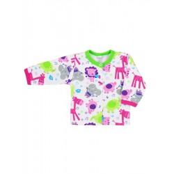 Kojenecký kabátek Bobas Fashion Zoo zelený pro holky, Zelená, 80 (9-12m)