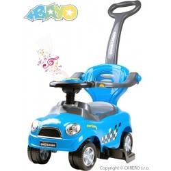 Dětské hrající jezdítko 3v1 Bayo Super Coupe blue