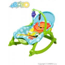 Dětské lehátko 2v1 Bayo green, Zelená