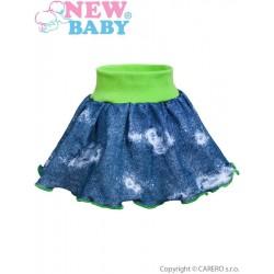 Kojenecká suknička New Baby Light Jeansbaby zelená, Zelená, 74 (6-9m)