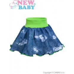 Kojenecká suknička New Baby Light Jeansbaby zelená, Zelená, 98 (2-3r)