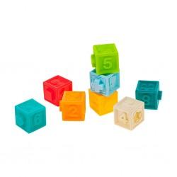 Sada senzorických hraček 8ks Akuku kostky, Dle obrázku