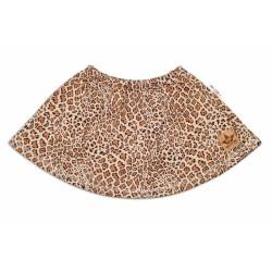BABY NELLYS Oteplená sukně Gepard - hnědá