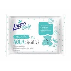 Vlhčené ubrousky LINTEO BABY Aqua sensitive, 10 ks v balení