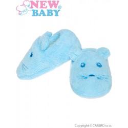 Kojenecké capáčky New Baby modré, Modrá, 6-12 m