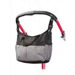 Taška na kočárek CARETERO Deluxe black-grey, Černá