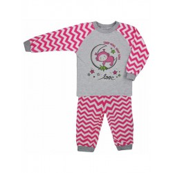 Dětské bavlněné pyžamo Koala Cik-Cak růžové, Růžová, 92 (18-24m)