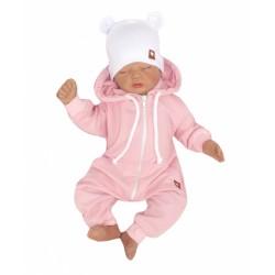 Z&Z Dětský teplákový overálek s kapucí, růžový