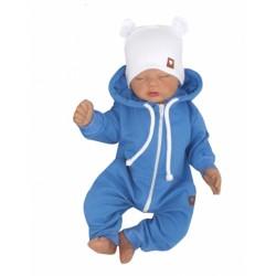 Z&Z Dětský teplákový overálek s kapucí, modrý