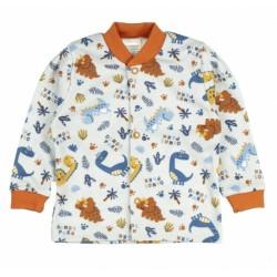 MBaby Novozenecká bavlněná košilka, kabátek DINO