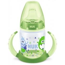 Kojenecká láhev na učení NUK 150 ml zelená monster