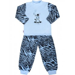 Dětské bavlněné pyžamo New Baby Zebra s balónkem modré