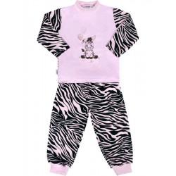 Dětské bavlněné pyžamo New Baby Zebra s balónkem růžové, Růžová, 80 (9-12m)