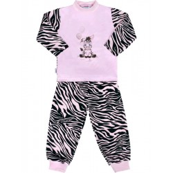 Dětské bavlněné pyžamo New Baby Zebra s balónkem růžové, Růžová, 86 (12-18 m)