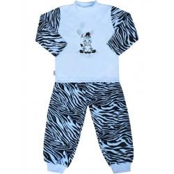 Dětské bavlněné pyžamo New Baby Zebra s balónkem modré, Modrá, 104 (3-4r)
