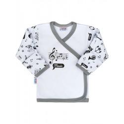 Kojenecká bavlněná košilka New Baby Music, Bílá, 56 (0-3m)