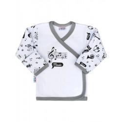 Kojenecká bavlněná košilka New Baby Music, Bílá, 68 (4-6m)