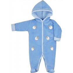 Zimní kojenecká kombinéza Bobas Fashion Ovečky modrá, Modrá, 62 (3-6m)