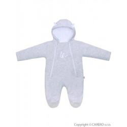 Zimní kojenecká kombinéza Baby Service Veverka světle šedá, Šedá, 68 (4-6m)