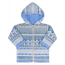 Zimní kojenecký kabátek Baby Service Etnik zima modrý, Modrá, 68 (4-6m)