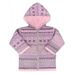 Zimní kojenecký kabátek Baby Service Etnik zima růžový, Růžová, 74 (6-9m)