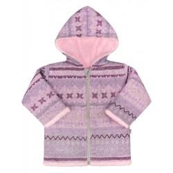 Zimní kojenecký kabátek Baby Service Etnik zima růžový, Růžová, 80 (9-12m)