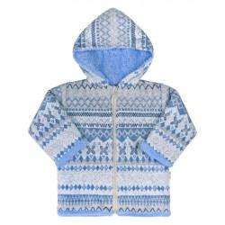 Zimní kojenecký kabátek Baby Service Etnik zima modrý, Modrá, 80 (9-12m)
