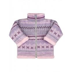 Zimní kojenecký kabátek se stojáčkem Baby Service Etnik zima růžový, Růžová, 56 (0-3m)