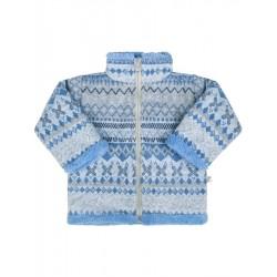 Zimní kojenecký kabátek se stojáčkem Baby Service Etnik zima modrý, Modrá, 62 (3-6m)