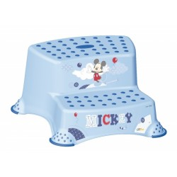 Stolička - schůdky s protiskluzovou funkcí - Mickey Mouse - modrá