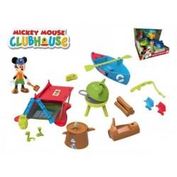 Mickey Mouse Clubhouse sada na piknik plast s kloubovou figurkou 8cm a doplňky v krab