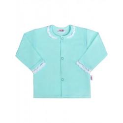 Kojenecký bavlněný kabátek New Baby Angel modrý, Modrá, 68 (4-6m)