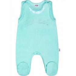 Kojenecké bavlněné dupačky New Baby Angel modré, Modrá, 74 (6-9m)