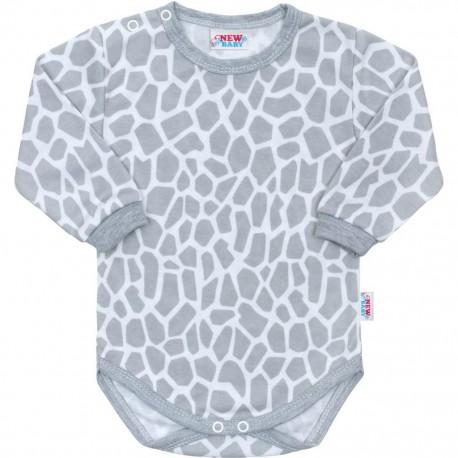 Kojenecké body s dlouhým rukávem New Baby Žirafa a02762f1ad