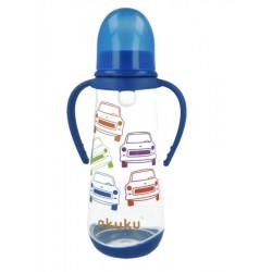 Láhev s obrázkem Akuku 250 ml modrá