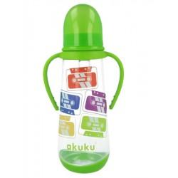Láhev s obrázkem Akuku 250 ml zelená