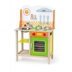 Dětská dřevěná kuchyňka Fantastic s příslušenstvím Viga, Oranžová