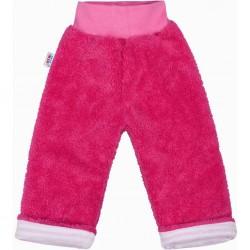 Zimní dětské tepláčky New Baby Ušáček tmavě růžové, Růžová, 68 (4-6m)