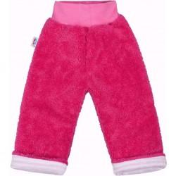 Zimní dětské tepláčky New Baby Ušáček tmavě růžové, Růžová, 74 (6-9m)